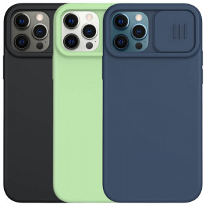 Nillkin CamShield Silky Magnetic   Силиконовый чехол для магнитной зарядки с защитой камеры для iPhone 12 / 12 Pro