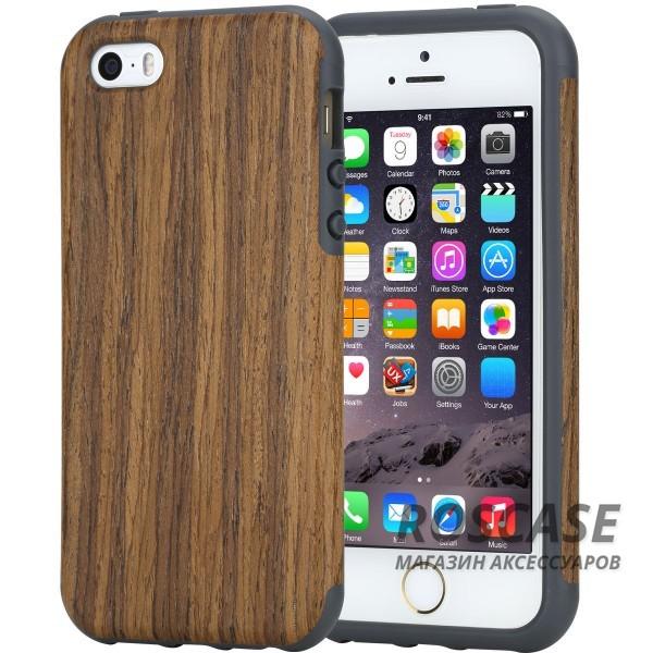 Деревянная накладка Rock Origin Series (Grained) для Apple iPhone 5/5S/SE (Rosewood)Описание:от бренда&amp;nbsp;Rock;подходит для Apple iPhone 5/5S/SE;тип: накладка;материалы: термополиуретан и натуральное дерево.Особенности:защита корпуса от повреждений;фактура шероховатая;фиксация надежная;текстура приятная на ощупь;оригинальный дизайн.<br><br>Тип: Чехол<br>Бренд: ROCK<br>Материал: TPU