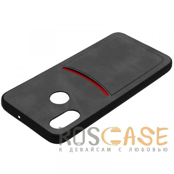Фотография Черный ILEVEL | Чехол с кожаным покрытием и с карманом-визитницей для Xiaomi Mi 8