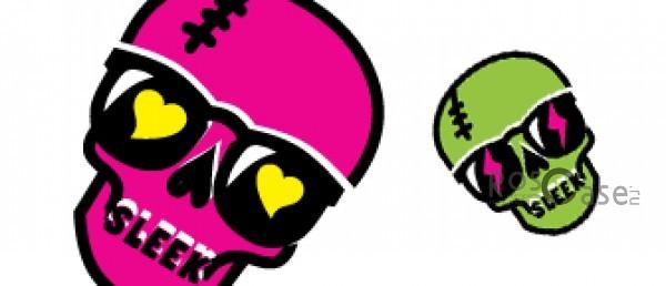 Светящаяся накладка SleekOn (Череп в очках) для Apple iPhone 5 (Sleek Skull) (2 цвета)