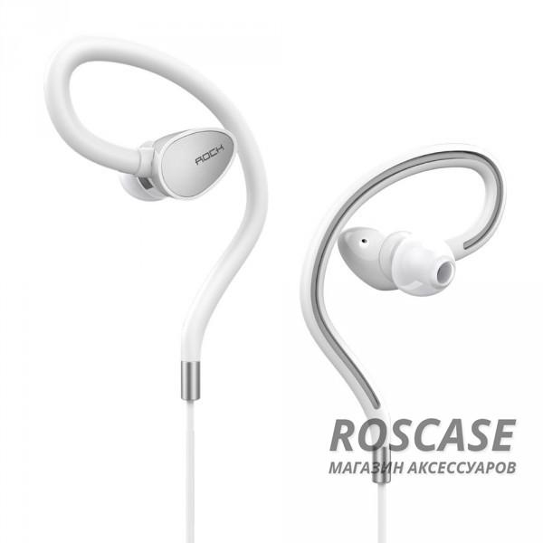 Наушники ROCK Zircon Sport stereo (Белый / White)Описание:производитель  - &amp;nbsp;Rock;разъем  -  3,5 mini jack;тип  -  наушники.&amp;nbsp;Особенности:микрофон;неодимовый динамик&amp;nbsp;8 мм;сопротивление: 16&amp;plusmn;15%&amp;Omega;;чувствительность  - &amp;nbsp;93&amp;plusmn;3&amp;nbsp;Дб;частотный диапазон:&amp;nbsp;20-20&amp;nbsp;кГц;прочная оплетка.<br><br>Тип: Наушники/Гарнитуры<br>Бренд: ROCK