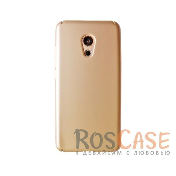 Пластиковая накладка soft-touch с защитой торцов Joyroom для Meizu Pro 6 (Золотой)<br><br>Тип: Чехол<br>Бренд: Epik<br>Материал: Пластик