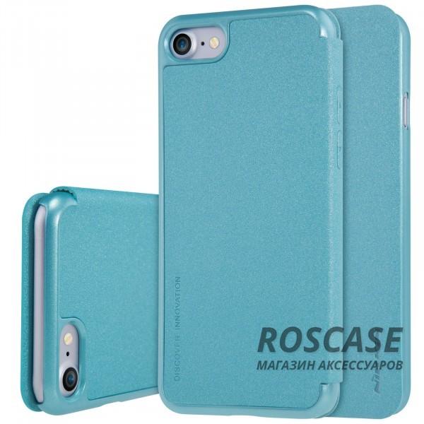 Кожаный чехол (книжка) Nillkin Sparkle Series для Apple iPhone 7 (4.7) (Бирюзовый)Описание:производитель -&amp;nbsp;Nillkin;разработан для Apple iPhone 7 (4.7);материал - искусственная кожа, поликарбонат;тип - чехол-книжка.Особенности:блестящая поверхность;защита от царапин и ударов;тонкий дизайн;защита со всех сторон;не скользит в руках.<br><br>Тип: Чехол<br>Бренд: Nillkin<br>Материал: Искусственная кожа