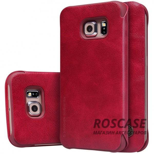 Кожаный чехол (книжка) Nillkin Qin Series для Samsung G925F Galaxy S6 Edge (Красный)Описание:производитель:&amp;nbsp;Nillkin;совместим с Samsung G925F Galaxy S6 Edge;материал: натуральная кожа;тип: чехол-книжка.&amp;nbsp;Особенности:слот для визиток;ультратонкий;фактурная поверхность;внутренняя отделка микрофиброй.<br><br>Тип: Чехол<br>Бренд: Nillkin<br>Материал: Натуральная кожа