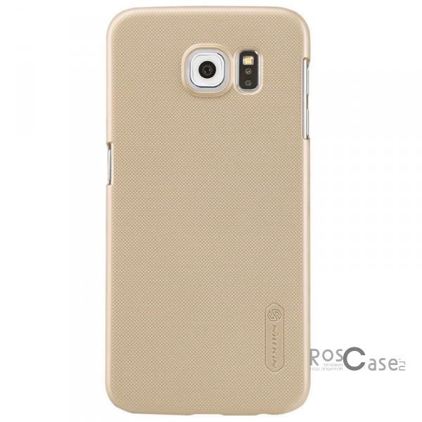 Чехол Nillkin Matte для Samsung Galaxy S6 G920F/G920D Duos (+ пленка) (Золотой)Описание:производитель - бренд&amp;nbsp;Nillkin;материал - поликарбонат;совместимость - Samsung Galaxy S6 G920F/G920D Duos;тип - накладка.&amp;nbsp;Особенности:матовый;прочный;тонкий дизайн;не скользит в руках;не выцветает;пленка в комплекте.<br><br>Тип: Чехол<br>Бренд: Nillkin<br>Материал: Поликарбонат