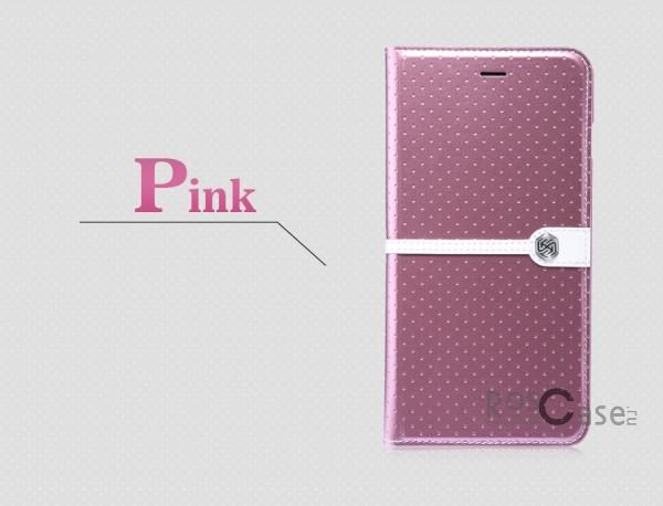 Кожаный чехол (книжка) Nillkin Ice Series для Apple iPhone 6/6s plus (5.5) (+ пленка) (Розовый)Описание:разработка и производство компании&amp;nbsp;Nillkin;совместим с Apple iPhone 6/6s plus (5.5);изготовлен из искусственной кожи и полиуретана;гладкая поверхность;тип конструкции  -  чехол-книжка;&amp;nbsp;Особенности:внутренняя часть отделана микрофиброй;ультратонкий;пленка в комплекте;транформируется в подставку;насыщенная цветовая палитра;повышенная износоустойчивость.<br><br>Тип: Чехол<br>Бренд: Nillkin<br>Материал: Искусственная кожа
