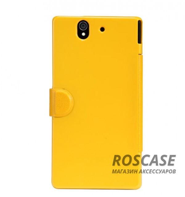 Кожаный чехол (книжка) Nillkin Fresh Series для Sony Xperia Z (L36i) (Желтый)Описание: компания-производитель  -  Nillkin;создан специально для смартфона Sony Xperia Z (L36i);в качестве основного материала была использована синтетическая кожа и поликарбонат;имеет фактурную поверхность;форм-фактор  -  чехол-книжка.Особенности:отличается оригинальным дизайном;представлен в широкой палитре насыщенных цветов;защищает смартфон с двух сторон;имеет надежную магнитную застежку;наличие всех функциональных вырезов.&amp;nbsp;<br><br>Тип: Чехол<br>Бренд: Nillkin<br>Материал: Искусственная кожа