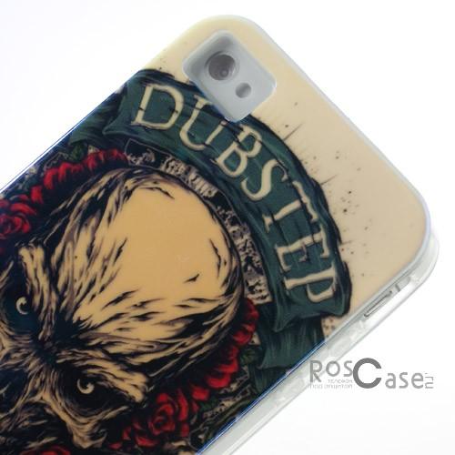 фото TPU чехол IMD Print Dubstep Semper Idem для Apple iPhone 4/4S