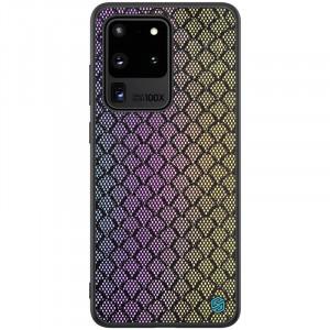 Nillkin Twinkle Rainbow | Чехол с текстурной тканевой вставкой  для Samsung Galaxy S20 Ultra