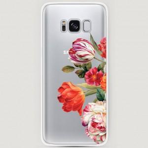 RosCase | Силиконовый чехол Весенний букет на Samsung G950 Galaxy S8