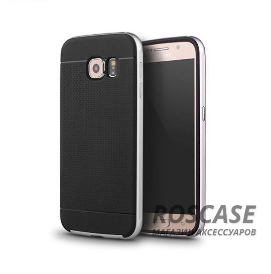 Чехол iPaky TPU+PC для Samsung Galaxy S6 G920F/G920D Duos (Черный / Серебряный)Описание:компания-разработчик: iPaky;совместимость с устройством модели: Samsung Galaxy S6 G920F/G920D Duos;материал изделия: термопластический полиуретан, поликарбонат;конфигурация: накладка-бампер.Особенности:элегантный дизайн;высокий класс прочности и износоустойчивости;легко и надежно фиксируется на смартфоне;имеет все необходимые функциональные вырезы.<br><br>Тип: Чехол<br>Бренд: Epik<br>Материал: TPU