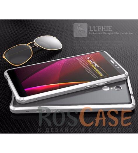Прочный алюминиевый бампер LUPHIE Sword для Xiaomi Redmi Note 3 / Redmi Note 3 Pro ( one color) (Серебряный)Описание:бренд -&amp;nbsp;Luphie;материал - алюминий;совместим с Xiaomi Redmi Note 3 / Redmi Note 3 Pro;тип - бампер.Особенности:прочный алюминий;в наличии все вырезы;ультратонкий дизайн;защита граней от ударов и царапин;в комплекте отвертка для установки бампера.<br><br>Тип: Чехол<br>Бренд: Luphie<br>Материал: Металл