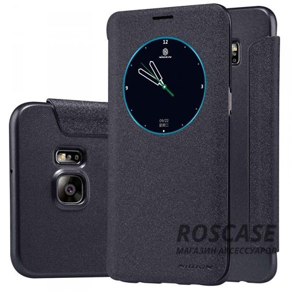 Кожаный чехол (книжка) Nillkin Sparkle Series для Samsung Galaxy S6 Edge Plus (Черный)Описание:бренд -&amp;nbsp;Nillkin;совместим с Samsung Galaxy S6 Edge Plus;материал - кожзам;тип: книжка.&amp;nbsp;Особенности:функция Sleep mode;окошко в обложке;блестящая поверхность;защита со всех сторон.<br><br>Тип: Чехол<br>Бренд: Nillkin<br>Материал: Искусственная кожа