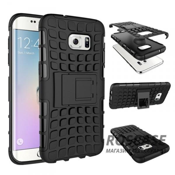 Противоударный двухслойный чехол Shield для Samsung G930F Galaxy S7 с подставкой (Черный)Описание:разработан специально для Samsung G930F Galaxy S7;материалы: поликарбонат, термополиуретан;тип: накладка.&amp;nbsp;Особенности:двухслойный;ударопрочный;оригинальный дизайн;стильный дизайн;в наличии все функциональные вырезы;функция подставки.<br><br>Тип: Чехол<br>Бренд: Epik<br>Материал: TPU
