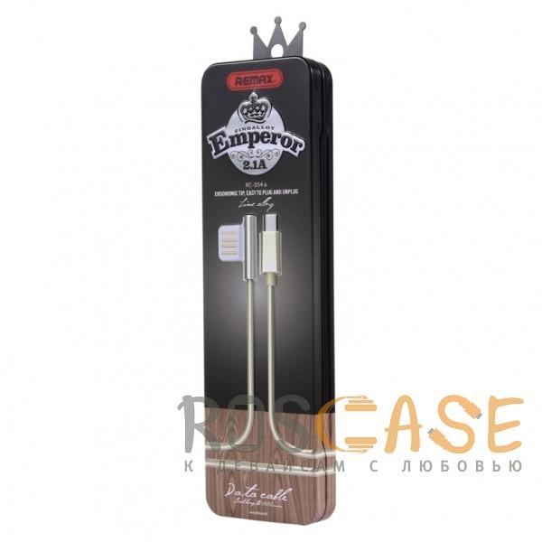 Фотография Золотой Remax Emperor | Дата кабель USB to Lightning с угловым штекером USB (100 см)