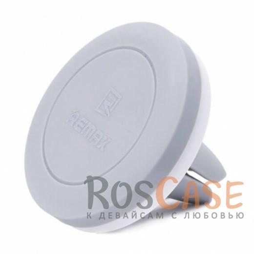 Яркий магнитный держатель для смартфона Remax Air Vent RM-C10 (Серый)Описание:совместимость: GPS навигаторы,&amp;nbsp;смартфоны диагональю до 6 дюймов;материалы: пластик, силикон;тип: автомобильный держатель;крепится на решетку вентиляционного отверстия;магнитное крепление;размеры  -  6*6*6 см;функция поворота на 360 градусов.<br><br>Тип: Автодержатель<br>Бренд: Epik