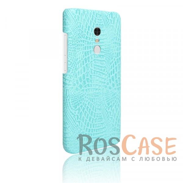 Кожаный чехол с узором из крокодиловой кожи Croc Series для Xiaomi Redmi Note 4 (Бирюзовый)<br><br>Тип: Чехол<br>Бренд: Epik<br>Материал: Искусственная кожа