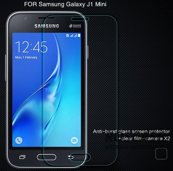 Защитное стекло Nillkin Anti-Explosion Glass (H) для Samsung J105H Galaxy J1 Mini / Galaxy J1 NxtОписание:компания&amp;nbsp;Nillkin;создано для Samsung J105H Galaxy J1 Mini / Galaxy J1 Nxt;материал: закаленное стекло;тип: защитное стекло.&amp;nbsp;Особенности:повторяет форму экрана;тонкое и прозрачное;покрытие анти-блик;твердость - 9H;толщина - &amp;nbsp;0,3 мм;защита от ударов и царапин;олеофобное покрытие;в комплекте пленка на камеру.<br><br>Тип: Защитное стекло<br>Бренд: Nillkin