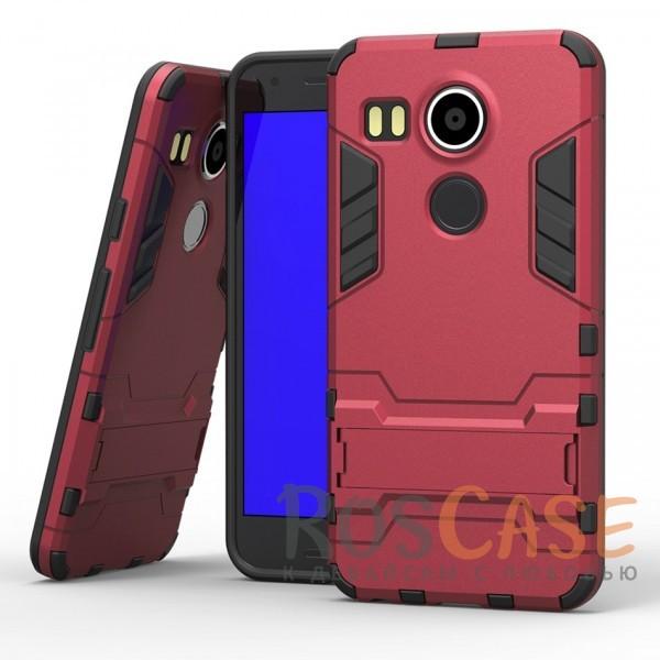 Ударопрочный чехол-подставка Transformer для LG Google Nexus 5x с мощной защитой корпуса (Красный / Dante Red)Описание:совместим со смартфоном LG Google Nexus 5x;форм-фактор  -  накладка;материал изделия- термополиуретан/поликарбонат.Особенности:отсутствие скольжения;отсутствие следов от пальцев;защита от ударов;морозоустойчивость;не деформируется;есть функция подставки;отлично фиксируется;легкая очистка от загрязнений.<br><br>Тип: Чехол<br>Бренд: Epik<br>Материал: TPU