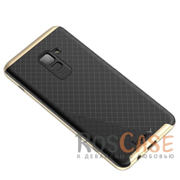 Фотография Черный / Золотой iPaky Hybrid   Противоударный чехол для Samsung A530 Galaxy A8 (2018)