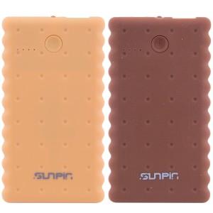 "SunPin K50 | Портативное зарядное устройство Power Bank с фонариком (5000 mAh 1 USB 2A) ""Печенье"" для Samsung Galaxy S6 Edge (G925F)"