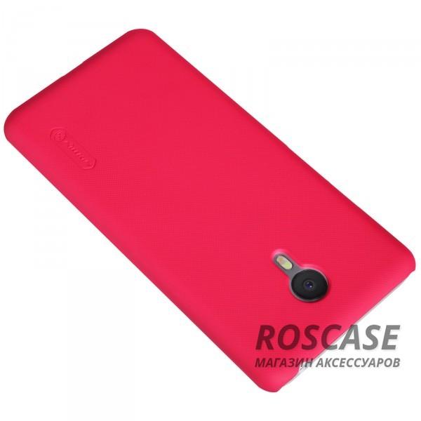 Изображение Красный Nillkin Super Frosted Shield | Матовый чехол для Meizu M3 Note (+ пленка)