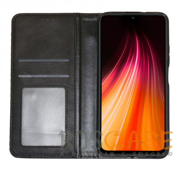 Изображение Черный Business Wallet   Кожаный чехол книжка с визитницей для Samsung Galaxy A52