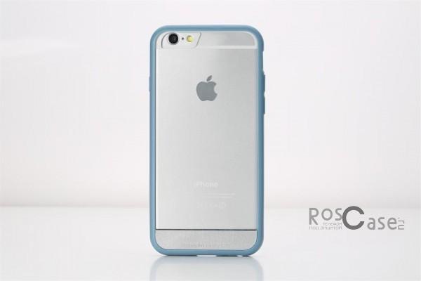 TPU+PC чехол Rock Enchanting Series для Apple iPhone 6/6s plus (5.5) (Голубой / Grey blue)Описание:компания-производитель  - &amp;nbsp;Rock;разработан специально для&amp;nbsp;Apple iPhone 6/6s plus (5.5);материалы  -  полиуретан, поликарбонат;тип  -  накладка.&amp;nbsp;Особенности:ультратонкий;поликарбонатная окантовка;все функциональные вырезы в наличии;легко очищается;не скользит в руках;защищает от ударов и царапин;не трескается.<br><br>Тип: Чехол<br>Бренд: ROCK<br>Материал: TPU