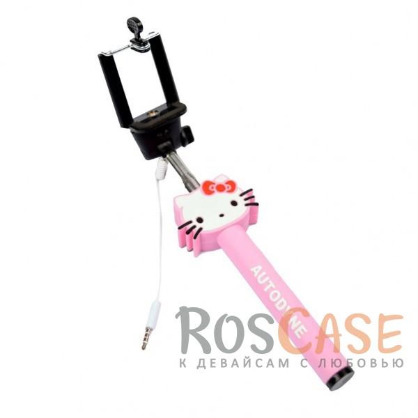 Фото Монопод Hello Kitty для селфи с прорезиненной ручкой