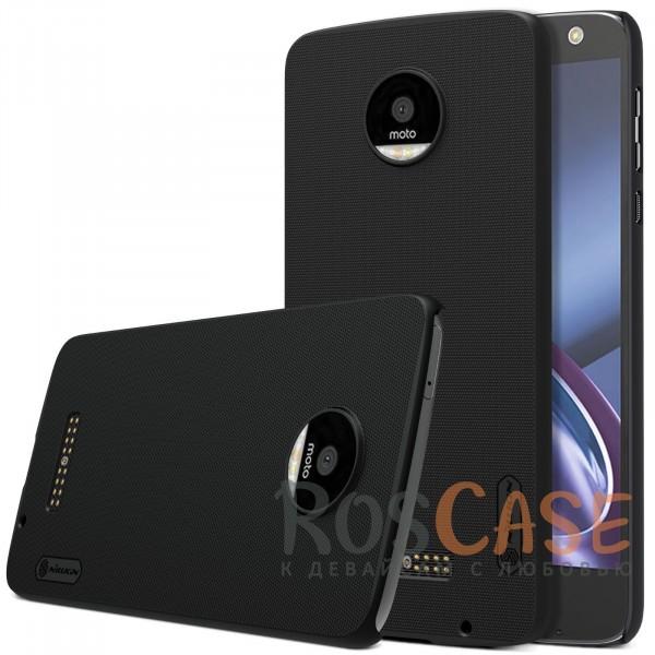 Чехол Nillkin Matte для Motorola Moto Z (XT1650) (+ пленка) (Черный)<br><br>Тип: Чехол<br>Бренд: Nillkin<br>Материал: Пластик