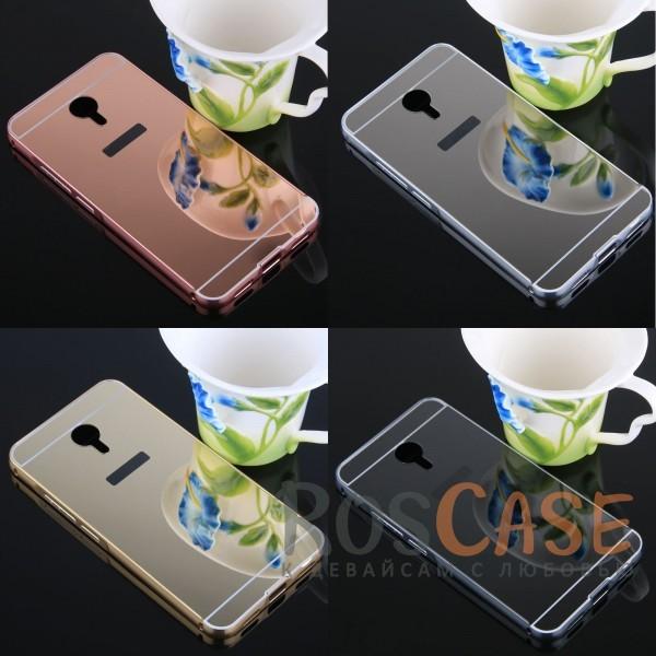 Металлический бампер с акриловой вставкой с зеркальным покрытием для Meizu M3 NoteОписание:разработан для Meizu M3 Note;материалы - металл, акрил;тип - бампер с задней панелью.<br><br>Тип: Чехол<br>Бренд: Epik<br>Материал: Металл