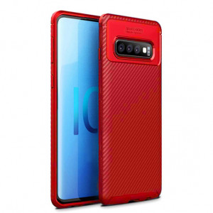 Силиконовый матовый чехол с текстурой Карбон для Samsung Galaxy S10e
