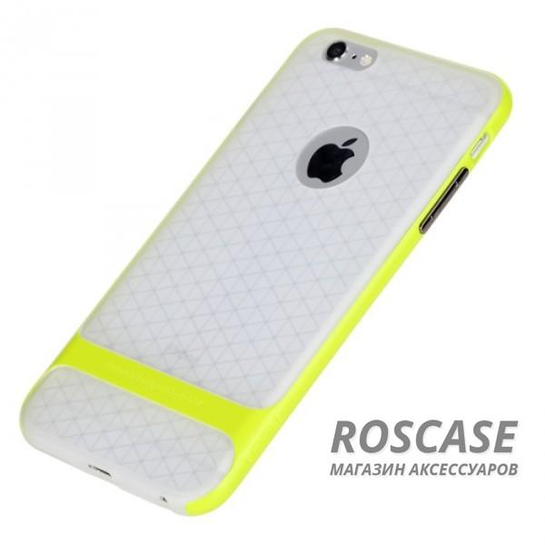TPU+PC чехол Rock Royce (Transparent) Series для Apple iPhone 6/6s (4.7) (Зеленый / Green)Описание:фирма-производитель  - &amp;nbsp;Rock;совместимость - Apple iPhone 6/6s (4.7);материалы  -  полиуретан, поликарбонат;тип  -  накладка.&amp;nbsp;Особенности:пластичный;имеет все необходимые вырезы;легко чистится;не увеличивает габариты;защищает от ударов и падений;износостойкий.<br><br>Тип: Чехол<br>Бренд: ROCK<br>Материал: TPU