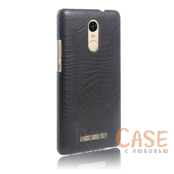 Кожаный чехол с узором из крокодиловой кожи Croc Series для Xiaomi Redmi Note 3 / Redmi Note 3 Pro (Черный)<br><br>Тип: Чехол<br>Бренд: Epik<br>Материал: Искусственная кожа