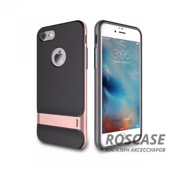 """Фотография Черный / Rose gold Rock Royce   Чехол для Apple iPhone 7 plus / 8 plus (5.5"""") с подставкой"""