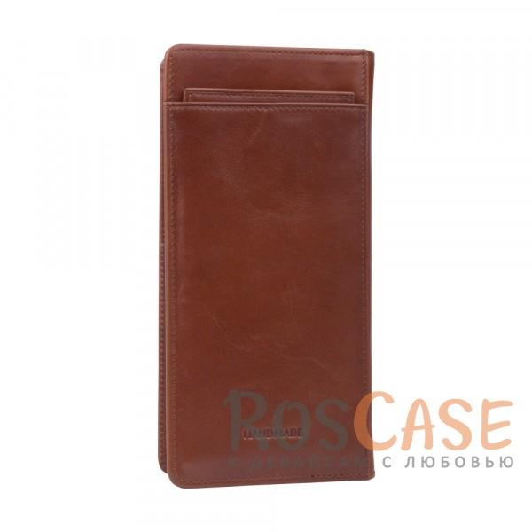 Изображение Мужской кошелек из натуральной кожи с отделением для купюр и вкладышем для карт и визиток