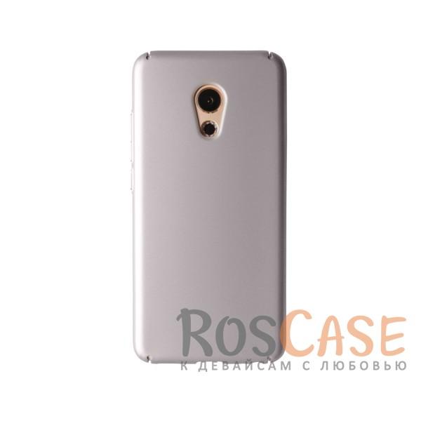 Пластиковая накладка soft-touch с защитой торцов Joyroom для Meizu Pro 6 (Серебряный)<br><br>Тип: Чехол<br>Бренд: Epik<br>Материал: Пластик