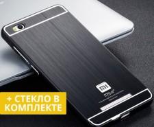 Msvii | Металлический бампер для Xiaomi Redmi 3 с акриловой вставкой