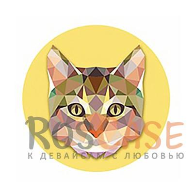 Фото Кошка Складная подставка-держатель Попсокет с необычными изображениями