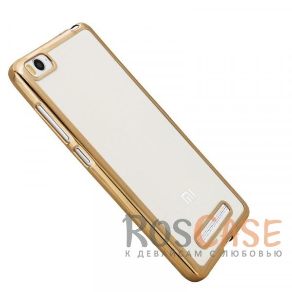 Прозрачный силиконовый чехол для Xiaomi Mi 4i / Mi 4c с глянцевой окантовкой (Золотой)Описание:подходит для Mi 4i / Mi 4c;материал - силикон;тип - накладка.Особенности:глянцевая окантовка;прозрачный центр;гибкий;все вырезы в наличии;не скользит в руках;ультратонкий.<br><br>Тип: Чехол<br>Бренд: Epik<br>Материал: TPU