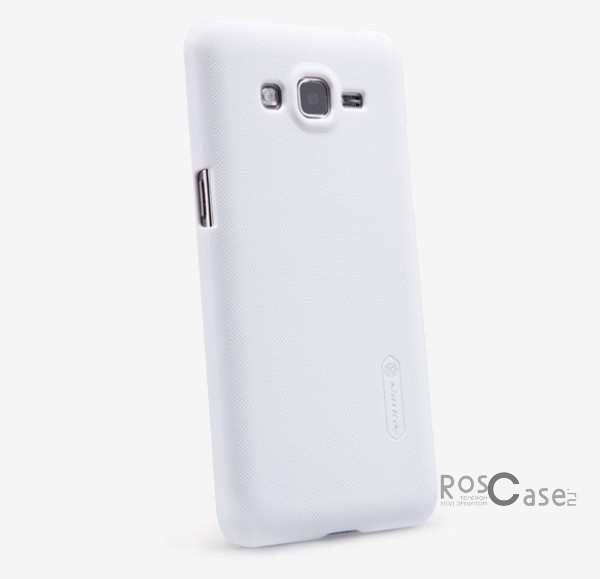 Фото Белый Матовый чехол Nillkin Super Frosted Shield для Samsung G530H/G531H Galaxy Grand Prime (+ пленка)