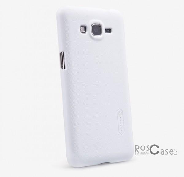 Чехол Nillkin Matte для Samsung G530H/G531H Galaxy Grand Prime (+ пленка) (Белый)Описание:Чехол изготовлен компанией&amp;nbsp;Nillkin;Спроектирован для Samsung G530H/G531H Galaxy Grand Prime;Материал  -  пластик;Форма  -  накладка.Особенности:Защищает от появления потертостей;В комплект входит глянцевая пленка;Имеет ребристое матовое покрытие и антикислотное напыление;Тонкий дизайн.<br><br>Тип: Чехол<br>Бренд: Nillkin<br>Материал: Поликарбонат