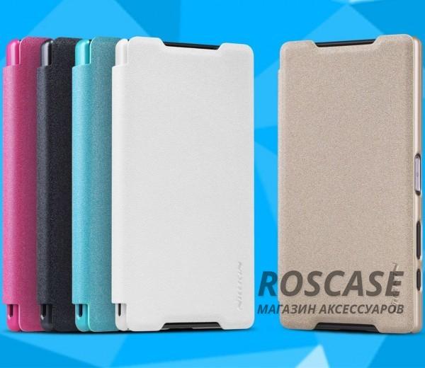 Кожаный чехол (книжка) Nillkin Sparkle Series для Sony Xperia Z5 CompactОписание:компания производитель: Nillkin;подходит в точности к Sony Xperia Z5 Compact;изготовлен: кожа в сочетании с полиуретаном;вид: книжка.Особенности:стильное дополнение смартфона;блестящая поверхность;стильный дизайн;маленький вес.<br><br>Тип: Чехол<br>Бренд: Nillkin<br>Материал: Искусственная кожа