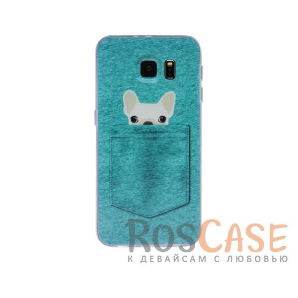 Тонкий силиконовый чехол с принтом Питомцы в кармане для Samsung Galaxy S6 G920F/G920D DuosОписание:материал: силикон;поверхность: фактурная;форм-фактор: накладка;совместимость: смартфон Samsung Galaxy S6 G920F/G920D DuosОсобенности:легко фиксируется;имеет все функциональные вырезы;полностью исключает попадание пыли и прочих загрязнений на смартфон;не скользит в руках.<br><br>Тип: Чехол<br>Бренд: Epik<br>Материал: TPU