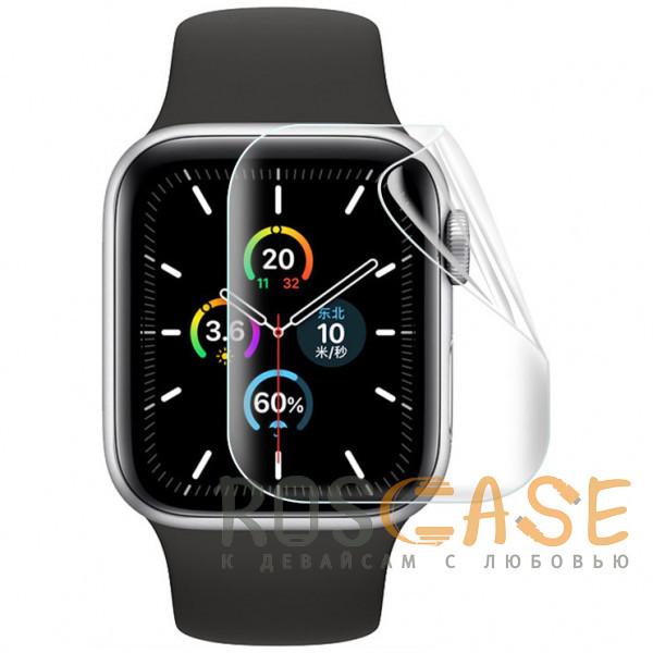 Фото Прозрачная Гидрогелевая защитная плёнка Rock для Apple Watch 6 (44 мм) 2 шт