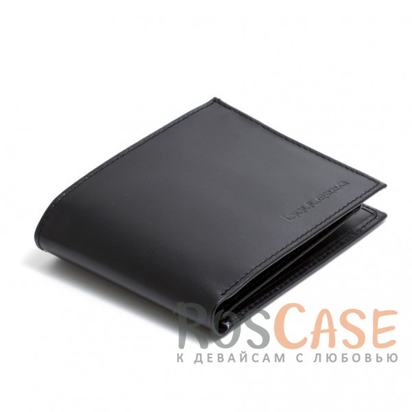 Изображение Мужской кошелек из натуральной кожи с откидным отделением для водительских прав