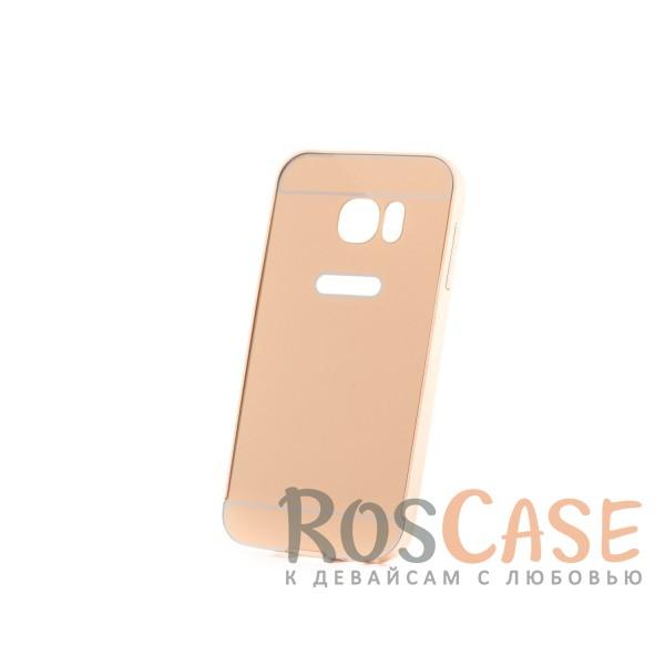 Металлический бампер с пластиковой вставкой для Samsung G930F Galaxy S7 (Золотой)Описание:сделан для Samsung G930F Galaxy S7;материалы: металл, пластик;тип чехла: бампер со вставкой.Особенности:металлическая окантовка;эргономичный дизайн;защита от механических повреждений;вставка из пластика;предусмотрены все функциональные вырезы;прочно фиксируется.<br><br>Тип: Чехол<br>Бренд: Epik<br>Материал: Металл