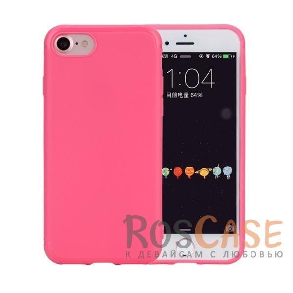 TPU чехол Rock Jello Series для Apple iPhone 7 (4.7) (Малиновый  / Rose red)Описание:произведен фирмой Rock;совместим с Apple iPhone 7 (4.7);материал  -  термополиуретан;тип  -  накладка.&amp;nbsp;Особенности:имеются все функциональные вырезы;матовая поверхность;не скользит;амортизирует удары;на ней не видны следы от пальцев;защищает от царапин.<br><br>Тип: Чехол<br>Бренд: ROCK<br>Материал: TPU