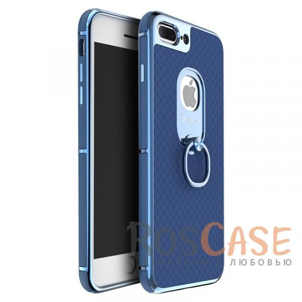 Чехол iPaky Ring Series для Apple iPhone 7 plus (5.5) (Синий)Описание:идеально совместим с Apple iPhone 7 plus (5.5);бренд - iPaky;материал - поликарбонат, термополиуретан, искусственная кожа;тип - накладка.<br><br>Тип: Чехол<br>Бренд: Epik<br>Материал: Пластик