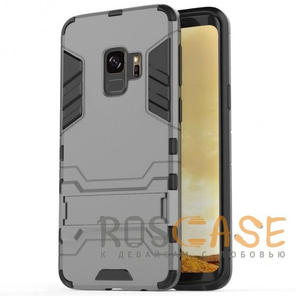 Изображение Металл / Gun Metal Transformer | Противоударный чехол для Samsung Galaxy S9 с мощной защитой корпуса